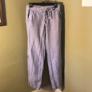 Seersucker style Banana Republic women's pants
